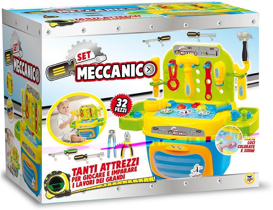 Luci e Suoni Teorema 64723 Banco da Lavoro Playset Meccanico con Attrezzi