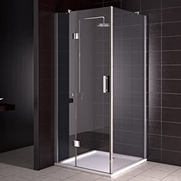 Mampara de ducha cabina de ducha plato de ducha 90 x 90 cm Nano ...