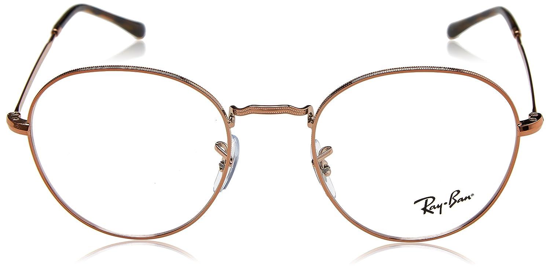 3f9f6aa3cc Amazon.com  Ray-Ban 0rx3582v No Polarization Round Prescription Eyewear  Frame Copper 49 mm  Clothing