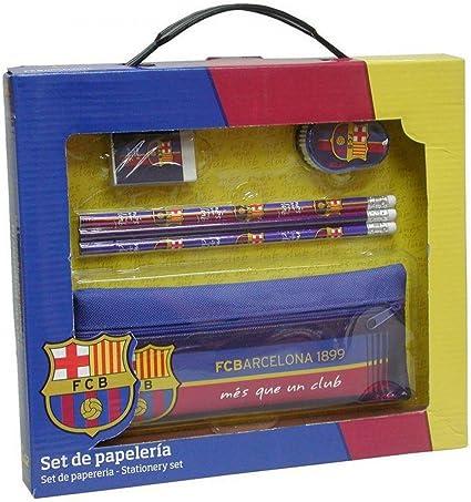 Fc Barcelona - Set de papelería con portatodo f.c. barcelona (escritura/ estuches): Amazon.es: Oficina y papelería
