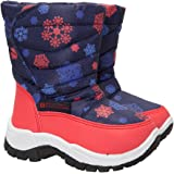 Mountain Warehouse Caribou Printed Junior Snow Boots - Snowproof, Warm, Comfortable Kid Shoes With Fleece Inner & High Traction Sole - Perfect For Cold Winter Days
