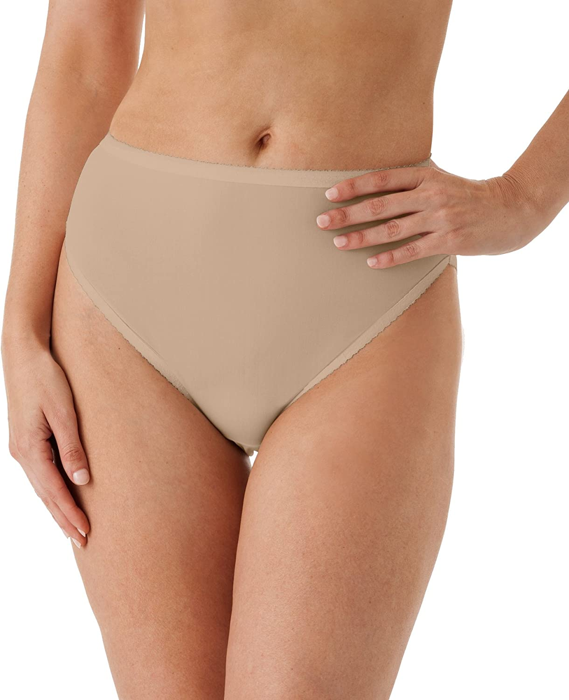 Shadowline Womens Plus Size Spandex Hi-Leg Brief