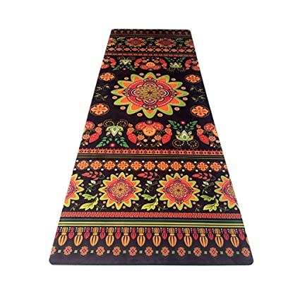 Amazon.com: Yoga Mat - Rubber Non-Slip Travel Fitness Flower ...