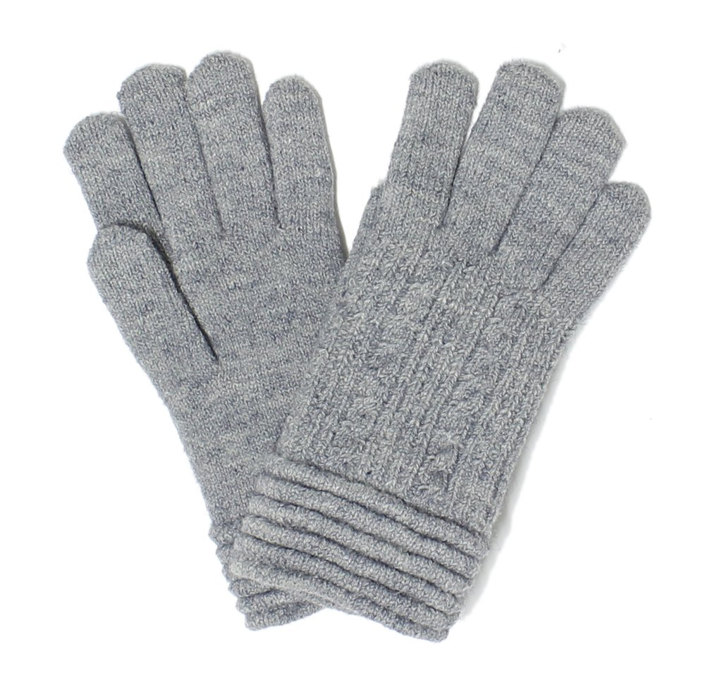 LL. Womens Warm Winter Knit Fashion Gloves, Fleece Lined- Many Styles (Gray Rib)