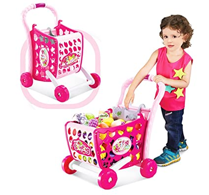 640f5db24f3fa Image Unavailable. Image not available for. Colour: Kiditos 3 in 1 Kids  Supermarket Shopping Cart Hand Induction with Light & Sound