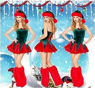 SDLRYF Père Noël Costume Jupe Costume Noël Femelle Adulte Père Noël Fête De Noël Réunion Annuelle Costume De Scène() 1Pc
