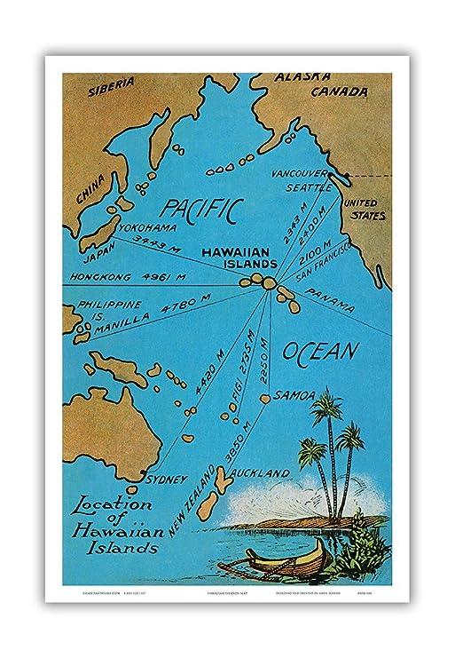 Tarjeta de situación de las Islas de Hawaii - Isla kuriositäten ...
