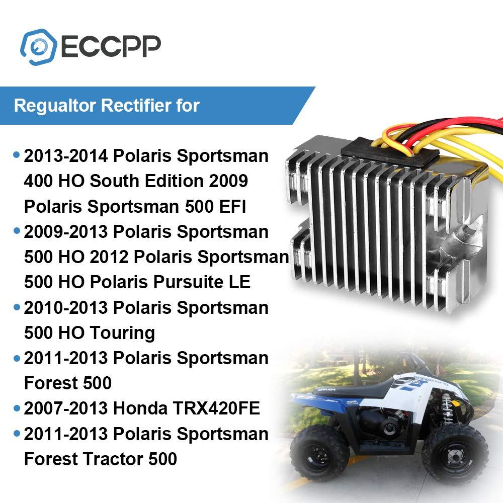 ECCPP Voltage Regulator Rectifier Fit for 2010-2014 Polaris Ranger 400 2010-2012 Polaris Scrambler 500 2011-2014 Polaris Sportsman 400 4012192 Rectifier Regulator