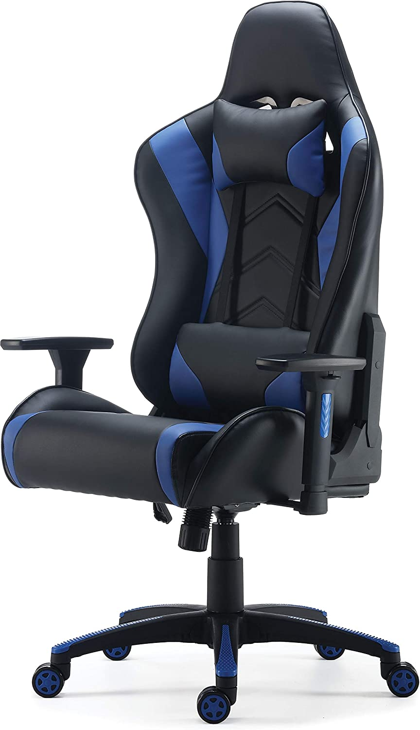 Amazon Com Staples 24326200 Vartan Gaming Chair Blue Furniture Decor Gaming chair staples gaming chair cheap gaming chair best gaming chair i got a new office chair, this is a gaming style chair from staples. staples 24326200 vartan gaming chair