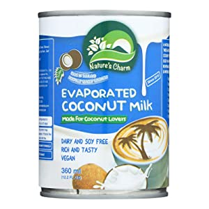 Nature's Charm Evaporated Coconut Milk 12.2oz (Pack of 6)