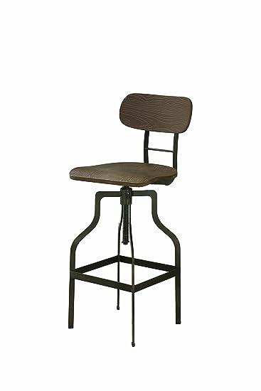Outstanding Amazon Com Jacinto Adjustable Bar Stool Light Brown And Cjindustries Chair Design For Home Cjindustriesco