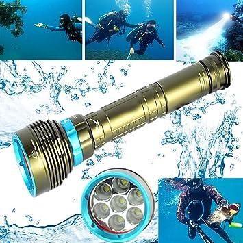 20000LM Bajo El Agua Buceo Linterna Antorcha XML T6 LED Pesca Buceo 200m K