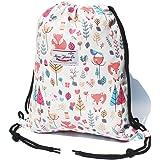 Original Floral Drawstring Bag String Backpack for Travel,Gym,School,Beach,2