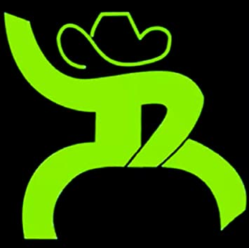 Download Source Amazon Com Hooey Oil Rig Roughy Decal Sticker 4 Lime Green