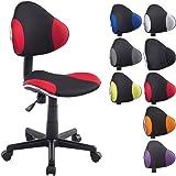 CLP Chaise de bureau moderne BASTIAN, design moderne & forme ergonomique, réglable en hauteur 39 - 51 cm, capacité de charge max. 100 kg noir/rouge