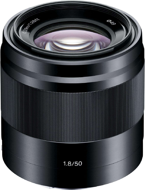 SEL50F18 + Sony E 55-210mm f//4.5-6.3 OSS Lens 1 Year AOM Warranty International Version SEL55210 Sony E 50mm f//1.8 OSS Lens + AOM Pro Starter Combo Black