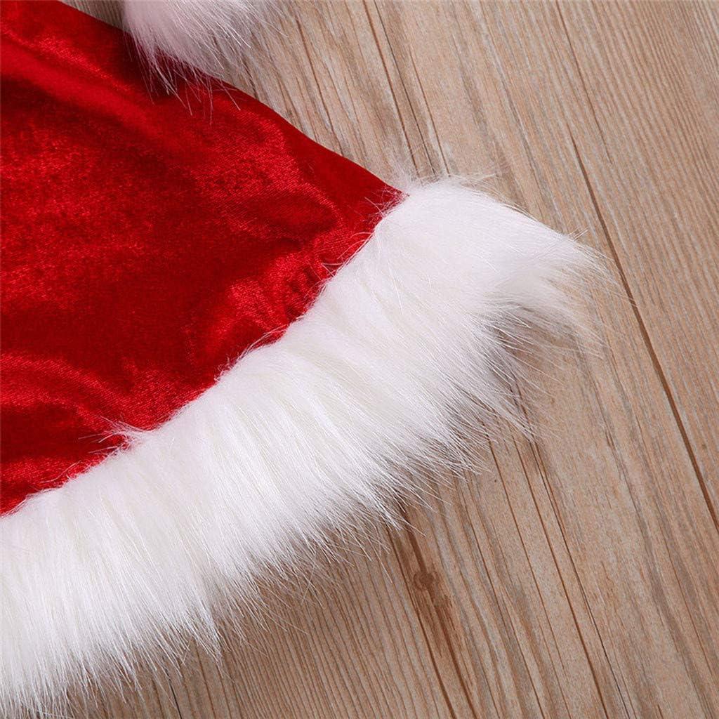 Girls Christmas Toddler Baby Dress Velvet Santa Dress Winter Warm Clothes Kehen