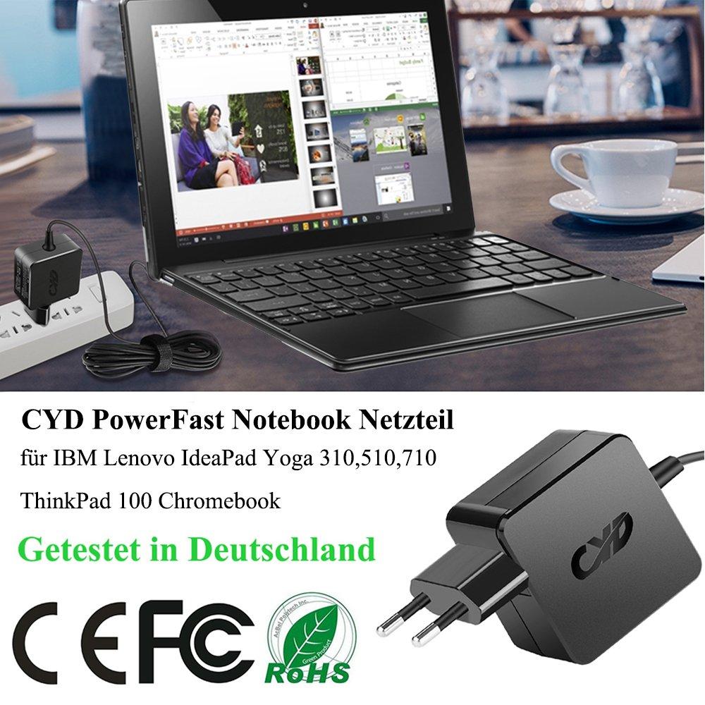 CYD 45W Portátile-Netbook-Cargador y Lenovo-Yoga 710 Flex 4-1435 4-1470 4-1570 4-1130 Miix 510 IdeaPad 100s 110 310 710s 310s 110s 310-14 510-14 ...