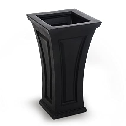 Amazon mayne inc cambridge tall planter black outdoor mayne inc cambridge tall planter black workwithnaturefo