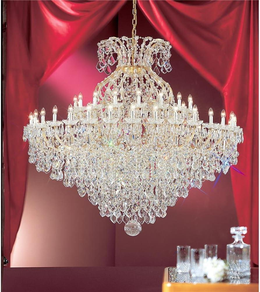 Classic Lighting 8188 Owg S Maria Theresa Crystal Traditional Chandelier 74 X 74 X 74 Olde World Gold Amazon Com