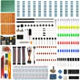 WayinTop Electronics Component Fun Kit w/E-Book, Upgraded Electronic Starter Kit with Breadboard Jumper Wires Kit, PCB Soldering Kit, LEDs & Resisitor Kit for Arduino/for Raspberry pi/ESP32/ESP8266