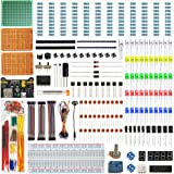 WayinTop Electronics Component Fun Kit w/E-Book, Upgraded Electronic Starter Kit with Breadboard Jumper Wires Kit, PCB…