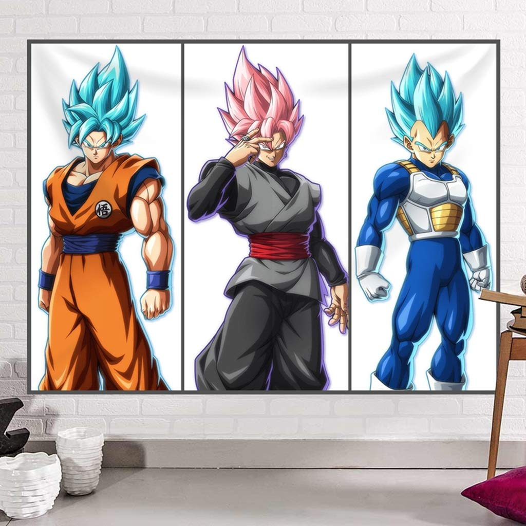 Anime Series Tapestry Dragon Ball Wall Tapestry Living Room Bedroom Decorative Wall Hanging Tapestry (Color : A, Size : 150CM×130CM) by HappyL