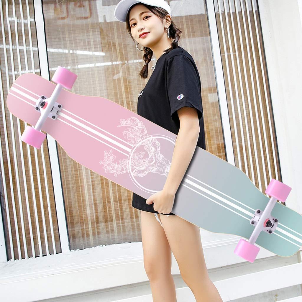 人気を誇る DUWEN スケートボードロングボード初心者スケートボード大人の男の子と女の子のブラシストリートダンスボード10代の若者たちプロ4輪スクーター (色 C) : : C) B07NRFZL7Q B B B, Lumiereblue:1951bbac --- a0267596.xsph.ru