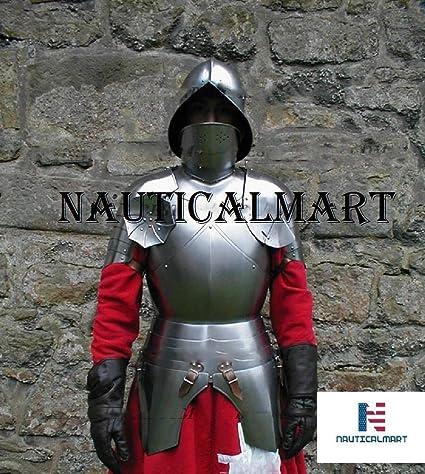 Amazon.com: Rápido traje de caballero medieval con placa de ...