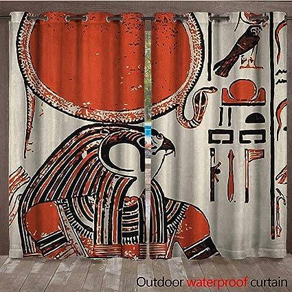 Papyrus Graphic Print /& Ancient Egyptian Symbol Artprint Shower Curtain Fabric