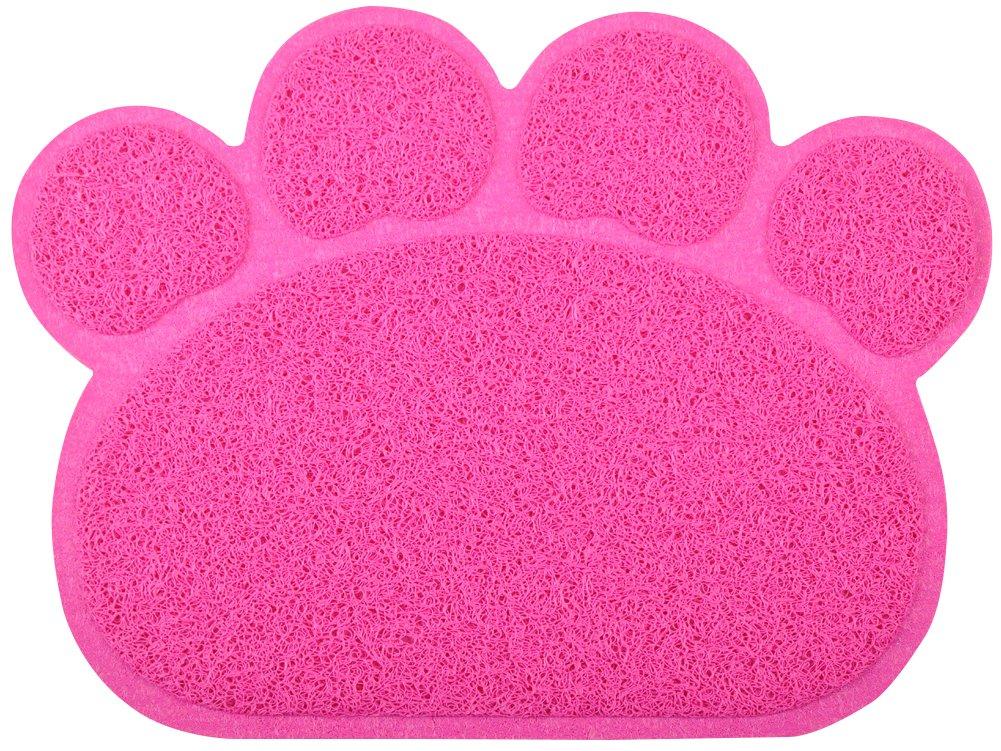 paw-shaped Tapis de litière pour chat Plateau, disponible en 8couleurs, 40x 29,8cm DM