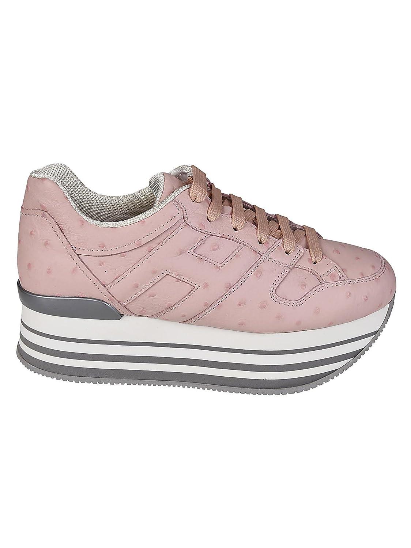 Hogan Sneaker Maxi 222 Stampa Struzzo HXW2830T548I9FM413 Rosa Donna -