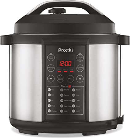 132e1303fa1 Buy Preethi Touch EPC005 6-Liter Electric Pressure Cooker (Black) Online at  Low Prices in India - Amazon.in