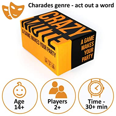 Charades Game - Gestures Game - Family Party Card Game for Adults Teens - Charades Cards Mime Cooperative Games for Families - Fun Parties Meme Pantomime Games - Funny Gesture Board Game