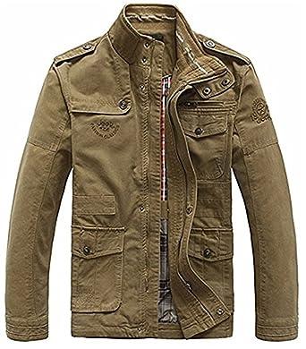 Herren Jacken Knöpfen Mantel Casual Männer Herbst Mit Army Übergang Militärjacke Winter Outdoor Baumwolle Jacke rBsQtChdx