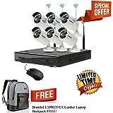 ROBORIX 6 Camera Wireless Wifi IP 8 Channel NVR 1MP 720p HD CCTV Security Camera Kit