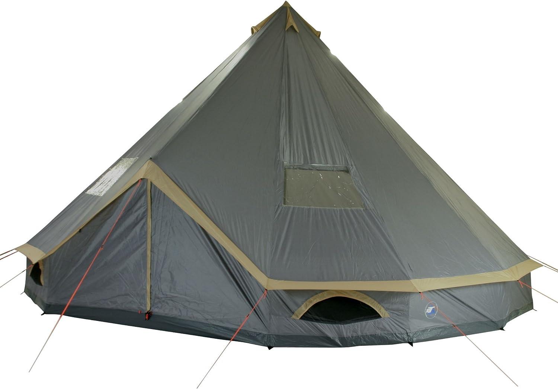 10T Camping Zelt Mojave 500, 8 Personen Tipi Pyramidenzelt