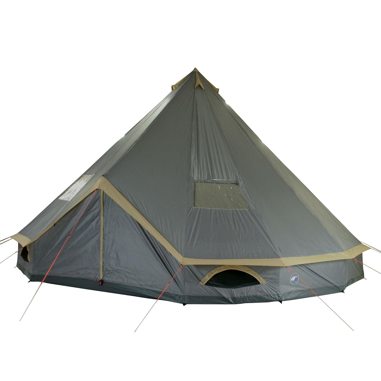 10T-Mojave-600-Plus-12-person-pyramid-round-  sc 1 st  eBay & 10T Mojave 600 Plus - 12-person pyramid round tent with sewn in ...