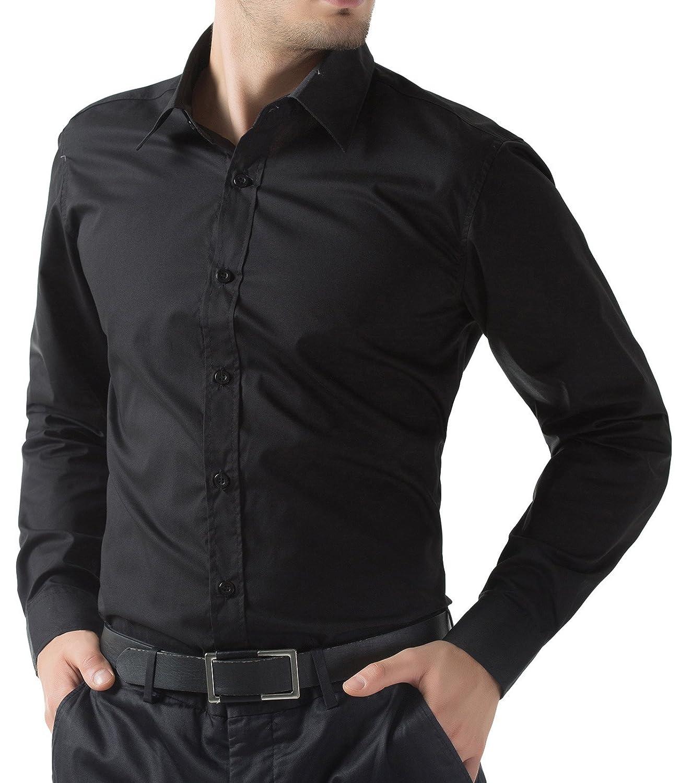 PAUL JONES Mens Long Sleeves Slim Fit Dress Shirts at Amazon Men's ...