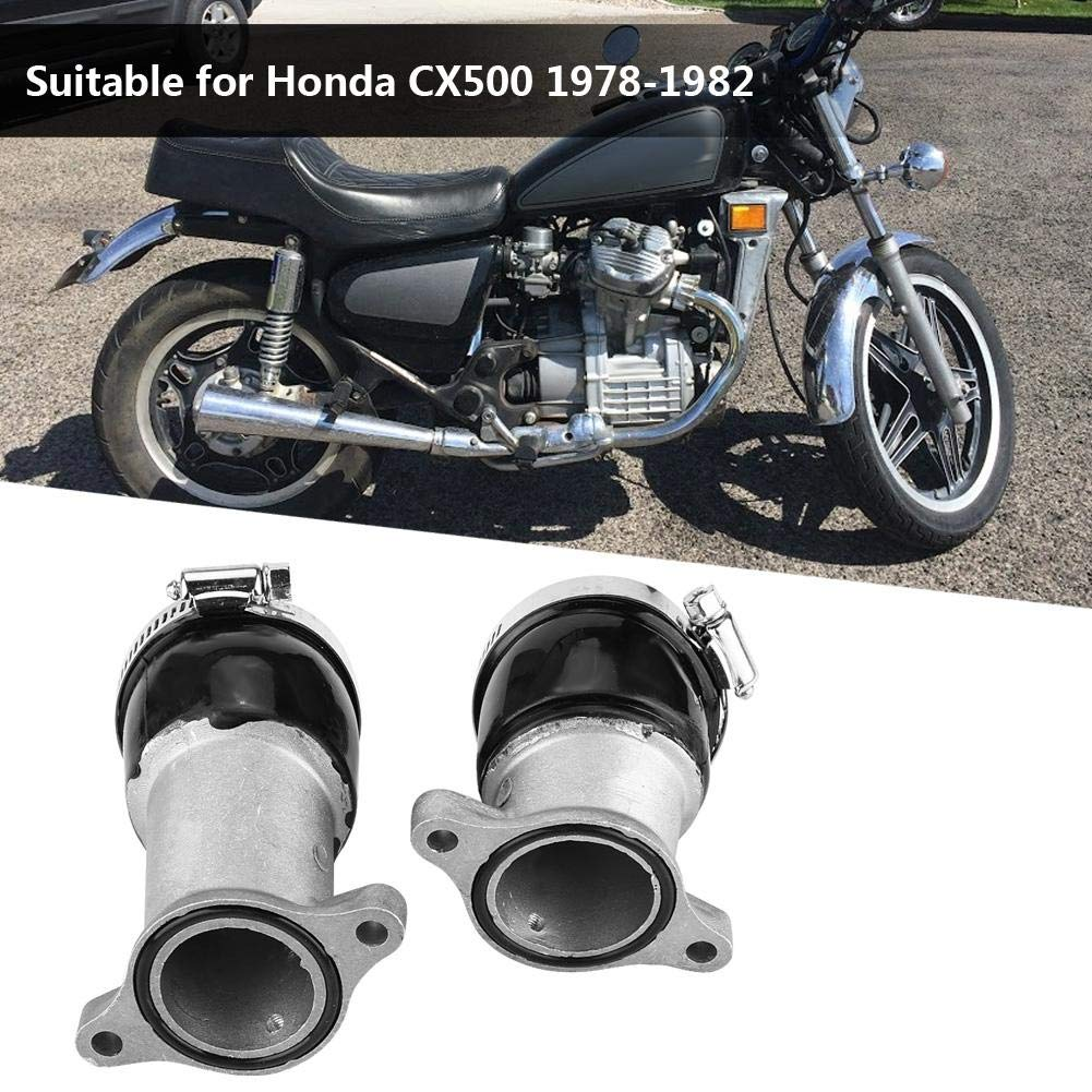 Duokon 2PCS Aluminum Carburetor Intake Manifold for CX500 1978-1982