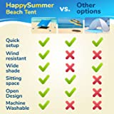 HappySummer Beach Tent with sandbag Anchors—The