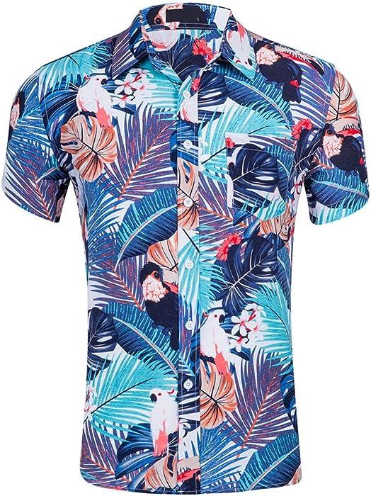 Gran promoción!Rovinci Camisas de Hombre Verano Casual Nuevo ...