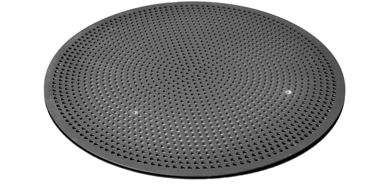 LloydPans Quik-Disk, Pre-Seasoned PSTK, Anodized Aluminum Jumbo 36 Inch Perforated Pizza Disk