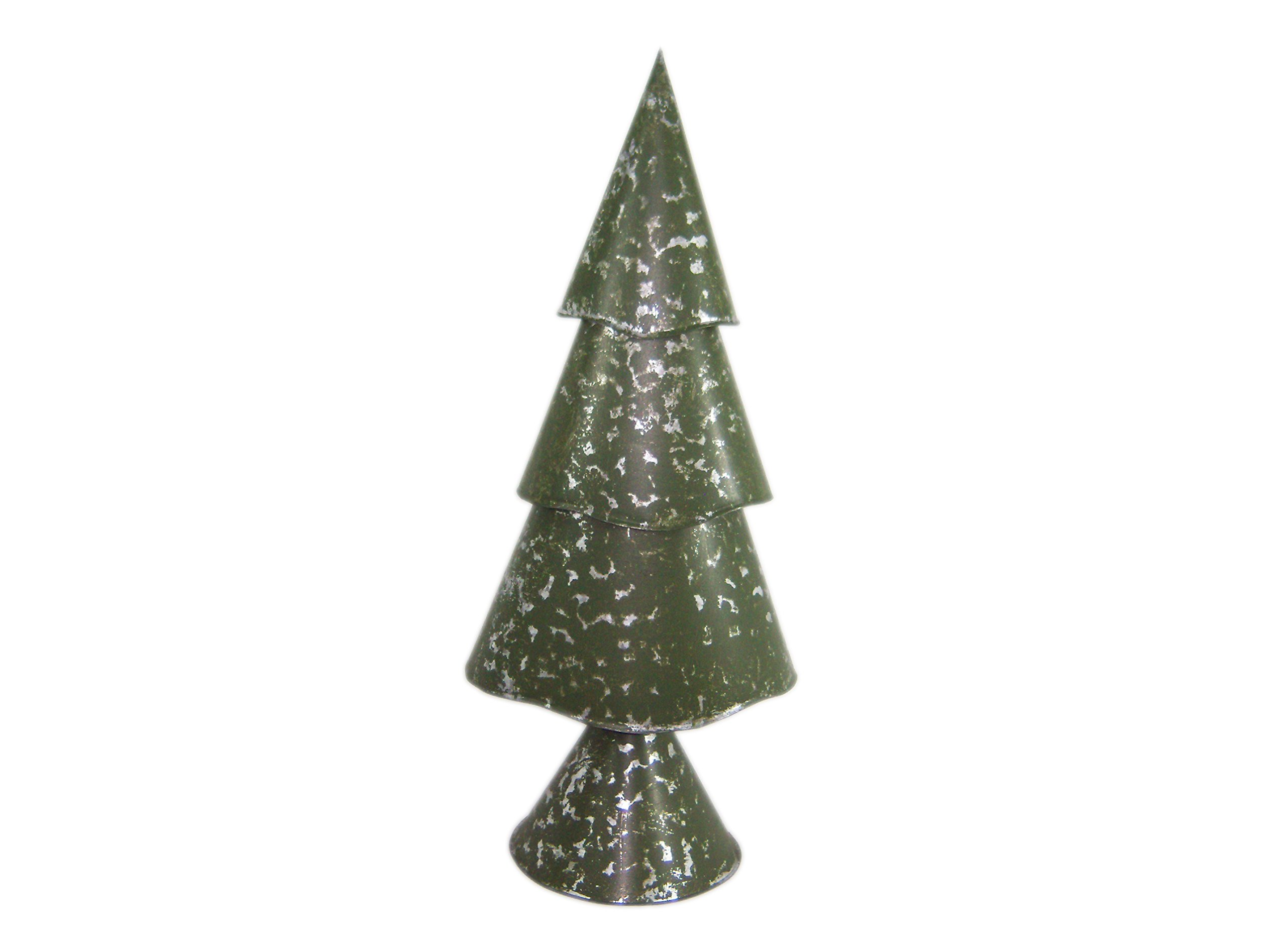 Large Moss Green Three-Tier Christmas Tree