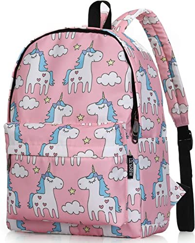 Lightweight Travel Backpack for Women and Teens Unicorn Pink Medium