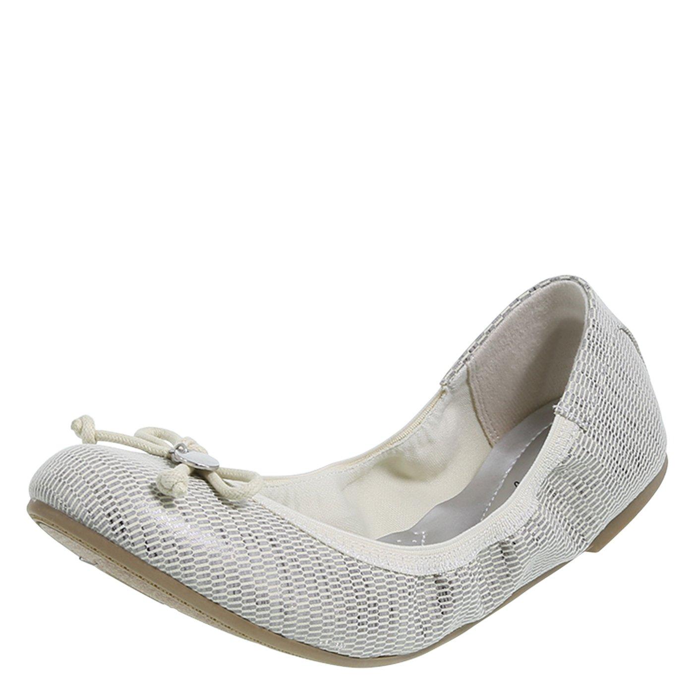 be980537e93 Galleon - Dexflex Comfort Women s Tan Silver Women s Caroline String Tie  Flat 7 Wide