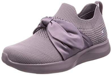 ecb8ae19653b Skechers Women's Bobs Squad 2-Bow Beauty Sneakers: Buy Online at Low ...