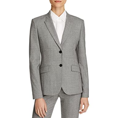 Amazon Com Hugo Boss Womens Julea Wool Stretch Suit Jacket Gray 14