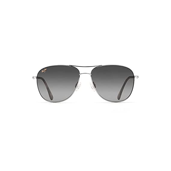 Maui Jim GS247-17 Silver Cliff House Aviator Sunglasses Polarised Driving aa1d314a3390