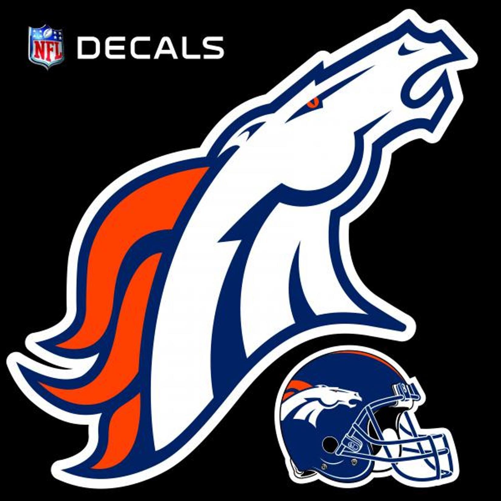 Stockdale Technologies Denver Broncos 12'' Logo Decal with Bonus Decal Vinyl Reusable Auto Home Football